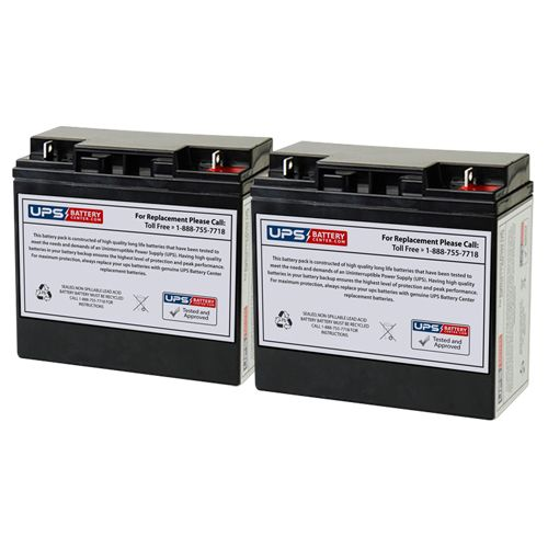 Fire-Lite Alarms MS-5UD(E) 12V 18Ah NB Replacement Batteries - Set of 2
